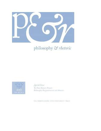Philosophy & Rhetoric – Special Issue