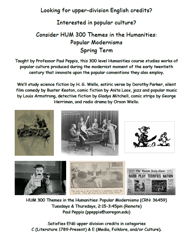 flyer to register for  humanities 300