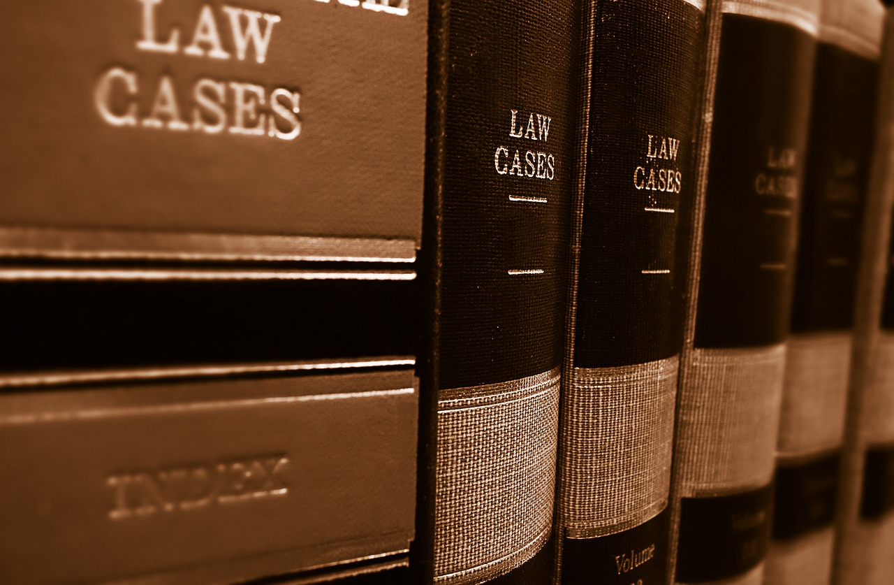 shelf of law books