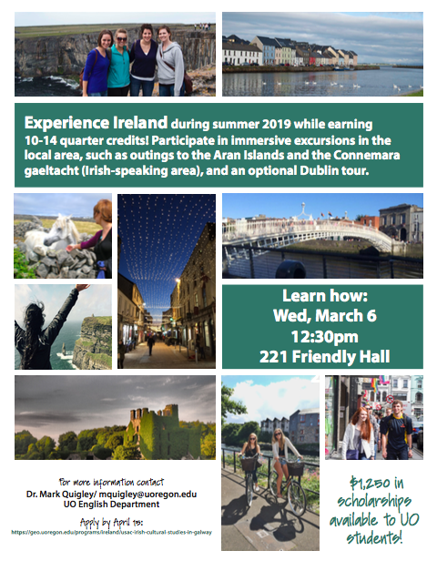 study abroad informational flyer