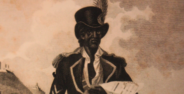 Pictured is a nineteenth-century engraving of Toussaint L'Ouverture, perhaps the most influential leader of the slave-led Haitian Revolution.