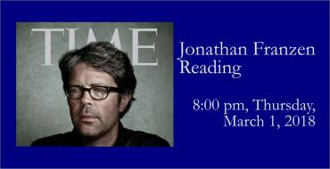 Jonathan Franzen Reading