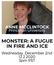 flyer of anne mcclintock's event