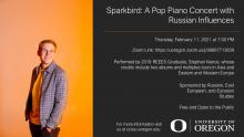 Flyer of Sparkbird: A Pop Piano Concert with Russian Influences
