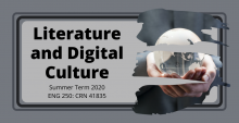 picture of literature and digital culture course flyer