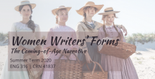 picture of women writers' forms course