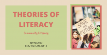 theories of literacy course flyer