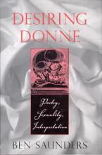 """Book cover for """"Desiring Donne"""""""