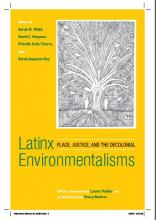 """Book Cover for """"Latinx Environmentalisms"""""""