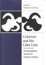 "Book cover for ""Criticism and the Color Line"""