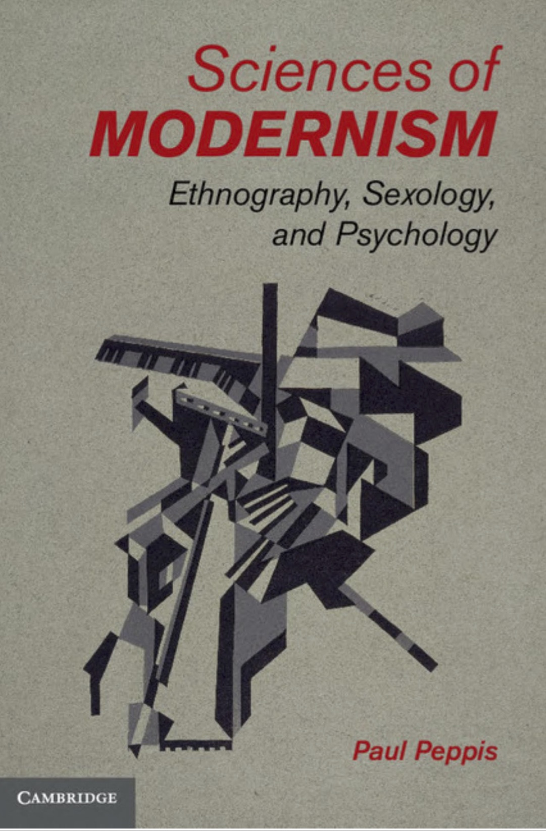 """Book cover for """"Sciences of Modernism"""""""